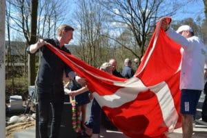 Sol over tennis-folket i Hans Broges Bakker