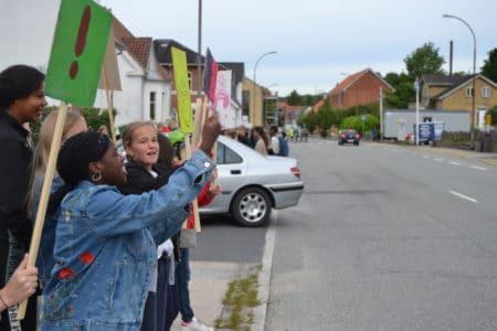 5. klasser på gaden for en mere sikker skolevej