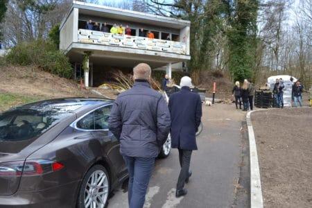 Søndagsturen gik til Jaka-direktørens villa i Brabrand