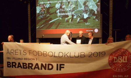 Brabrand IF hædret som Årets Fodboldklub 2019