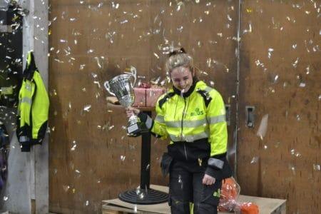DM-vinder hos Buus i Årslev fejret med guldkonfetti