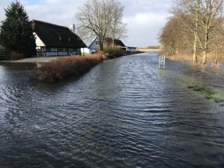 Store oversvømmelser omkring Brabrand Sø