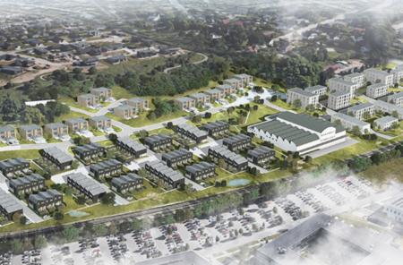 Næsten alle færdigbyggede boliger i Høiriisparken er afsat