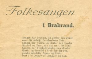 Brabrand under besættelsen: 1200 til alsang i Brabrand Bakker