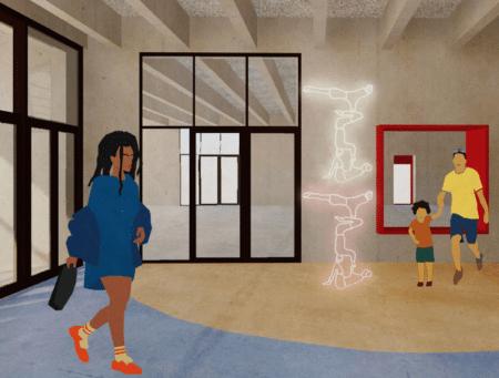 Nyt bevægelseshus i Gellerup med mangfoldighed og farver