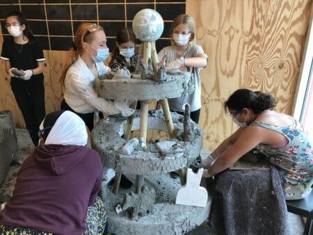 """Elever i kunstprojekt: """"Man lærer at gøre sig umage"""""""