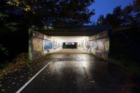 Elever fra Sødalskolen har forvandlet skummel tunnel til tryg skolevej