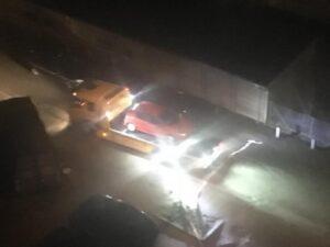 Dramatisk nat omkring Gudrunsvej efter skyderi på p-plads