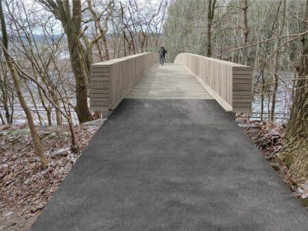 Forslag: Sådan kan en ny bro over jernbanen i Brabrand se ud