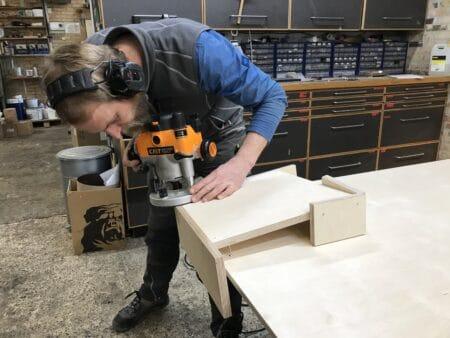 Lokalt samspil: Kjeldtoft laver nye borde til Gasværket