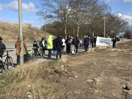 Beboere på Dortesvej demonstrerede mod nedrivninger