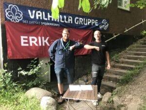 Valhalla-spejderne klar til at bygge en ny hytte på Høiriisgårdsvej