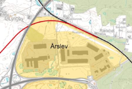 Ny bane til Silkeborg går i en bue uden om Årslev