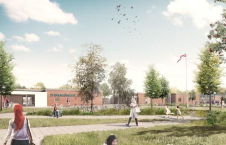 Brabrand får en ny skole: Stensagerskolen klar til at holde rejsegilde